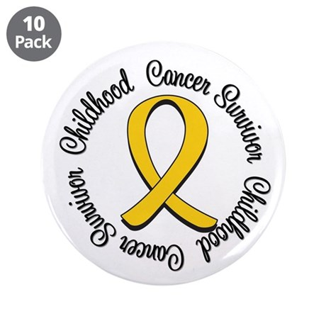 "Childhood Cancer Hope 3.5"" Button (10 pack)"