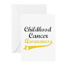 Childhood Cancer Grunge Greeting Cards (Pk of 10)