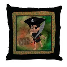 Cute Pirate chest Throw Pillow