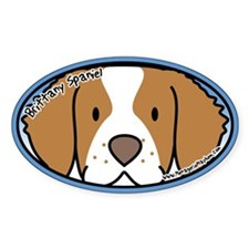 Anime Brittany Spaniel Oval Decal