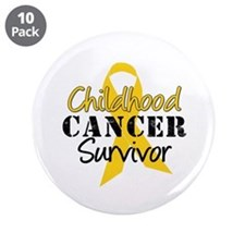 "Childhood Cancer Survivor 3.5"" Button (10 pack)"