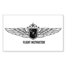 Flight Instructor Rectangle Decal