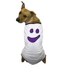 Purple Ghost Face Dog T-Shirt