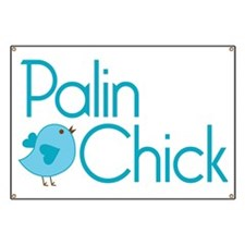Palin Chick Blue Banner