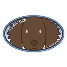 Anime Boykin Spaniel Oval Decal