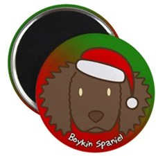 Cartoon Boykin Spaniel Christmas Magnet
