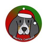 Cartoon Bluetick Coonhound Christmas Ornament