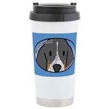 Anime Bluetick Coonhound Ceramic Travel Mug
