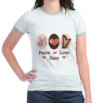 Peace Love Harp Jr. Ringer T-Shirt