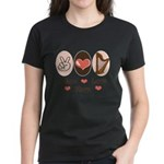 Peace Love Harp Women's Dark T-Shirt