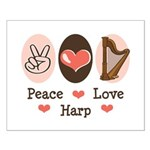 Peace Love Harp Small Poster