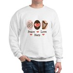 Peace Love Harp Sweatshirt