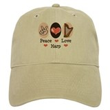 Peace Love Harp Baseball Cap