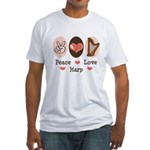 Peace Love Harp Fitted T-Shirt