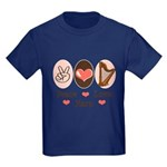 Peace Love Harp Kids Dark T-Shirt