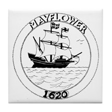 Cute Mayflower Tile Coaster