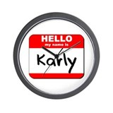 Hello my name is Karly Wall Clock