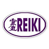 Reiki Oval Decal