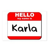 Hello my name is Karla Postcards (Package of 8)