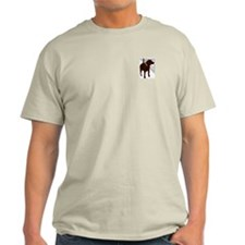 Brown Dog Heather Grey Tshirt
