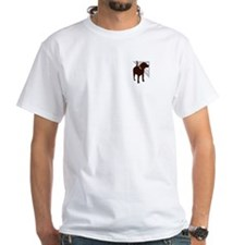 Brown Dog Carpentry White tshirt