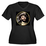 God Bless You! Women's Plus Size V-Neck Dark T-Shi