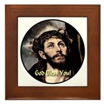God Bless You! Framed Tile
