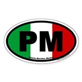 Puerto Morelos Mexico PM Euro Oval Decal