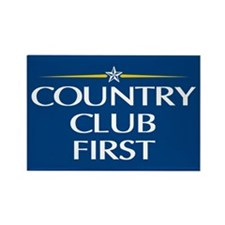 Country Club First Rectangle Magnet
