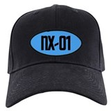 NX-01 Baseball Hat - Black txt/Sci-Med blue backgrnd