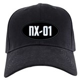 NX-01 Baseball Cap - White txt/Sci-Med blue highlight