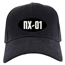 NX-01 Baseball Cap - White text/Gold highlights