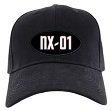 NX-01 Baseball Cap - White text/command red highlight