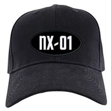 NX-01 Baseball Cap - white text on black