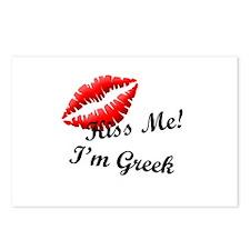 Kiss Me I'm Greek Postcards (Package of 8)