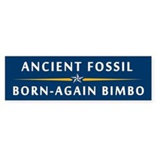 The Fossil and the Bimbo Bumper Bumper Sticker
