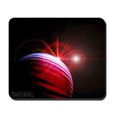 Red Sunrise in Outer Space Mousepad