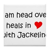 Cute I heart jackeline Tile Coaster