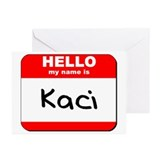 Hello my name is Kaci Greeting Cards (Pk of 10)