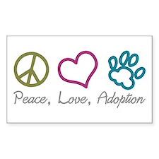 Peace, Love, Adoption Rectangle Decal