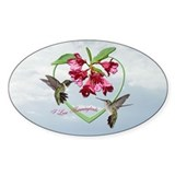 I love hummingbirds Oval Decal