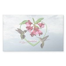 I love hummingbirds Rectangle Decal