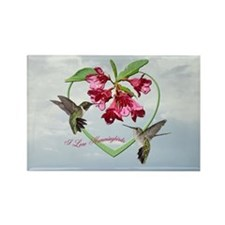 I love hummingbirds Rectangle Magnet