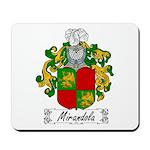Mirandola Family Crest Mousepad