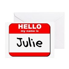 Hello my name is Julie Greeting Cards (Pk of 10)