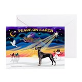 Blue great dane cards Greeting Cards (10 Pack)