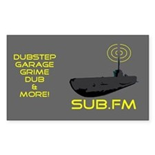 SUB.FM Rectangle Decal