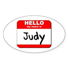 Hello my name is Judy Oval Decal