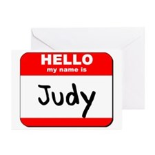 Hello my name is Judy Greeting Cards (Pk of 20)