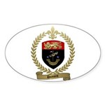 DUMONT Family Crest Oval Sticker